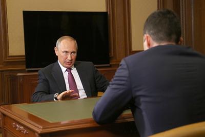 Владимир Путин и Антон Алиханов